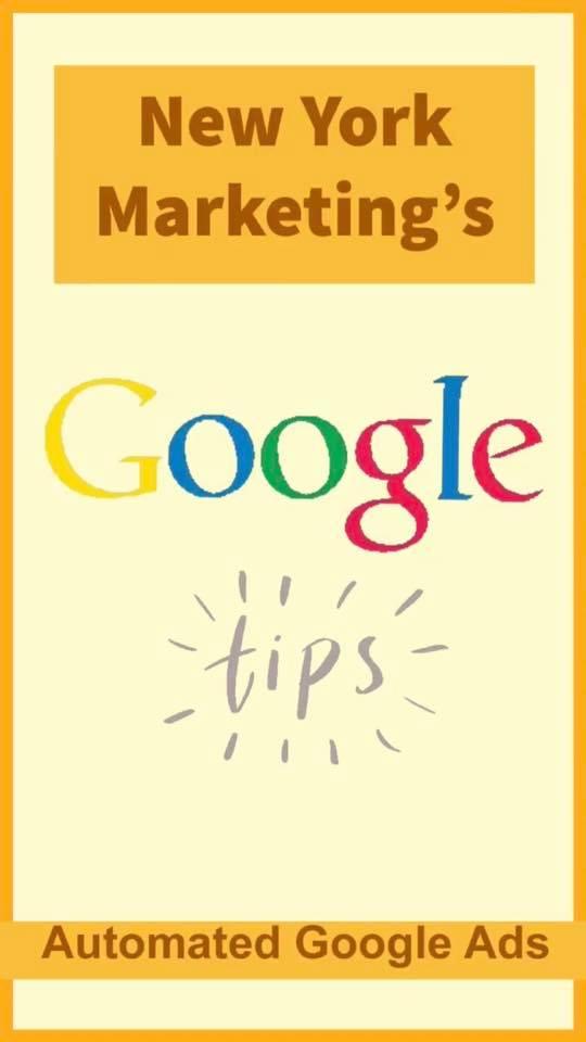 Google Ad Tip: Automated Google Ads